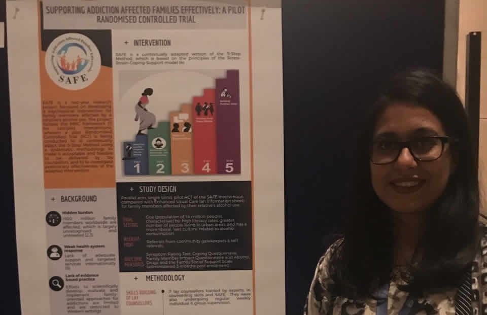 AFINet member Urvita Bhatia presents Poster and gives Twitter interview